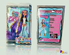 Madison Fear Box (PurpleandOrangeMH) Tags: madison fear orange purple purpleandorange custom doll reroot ooak monster high