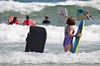 Violet And Helen Boogie-Boarding (Joe Shlabotnik) Tags: 2016 higginsbeach boogieboard violet maine helent july2016 ocean beach afsdxvrnikkor55300mm4556ged