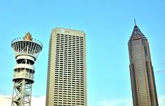 Atlanta Trio (Neal3K) Tags: atlanta skyline skyscrapers georgia olympictorch reproductions