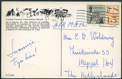 Archiv G673 Poststempel, Lakewood CA. vom 7. Juli 1971 (Hans-Michael Tappen) Tags: archivhansmichaeltappen usa stamps poststempel briefmarke schrift text postcard 1971 1970s 1970er kalifornien lakewoodca