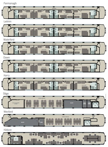 Belmond Grand Hibernian carriage plans