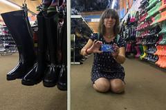 Shoe Shop Selfie! (Jainbow) Tags: selfie sunday shot mirror shoe shop boots reflection jainbow