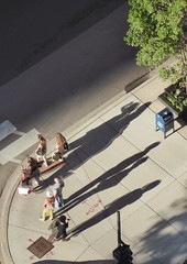 Shadows (Nick Fewings 4.5 Million Views) Tags: nickfewings tower water chicago hotel sofitel panasonic lookingdown above perspective people shadows 2016