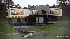 The house on the shore (lipucha) Tags: house home building household thehouseontheshore design designing architecture visualization visualisation rendering renderer