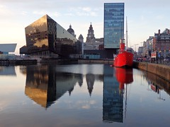 Symmetry (catz5555) Tags: reflection water liverpool buildings reflections dock canningdock