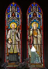 Saint Francois & Sainte Clotilde - stained glass window (Monceau) Tags: windows stainedglass saintfrancois sainteclotilde