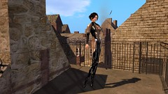 Alleyways (alexandriabrangwin) Tags: world old ballet woman brown black france streets castle beauty leather computer pose shopping hair 3d graphics scenery shiny shadows boots scenic violet charm rubber glossy secondlife virtual heels latex seethrough transparent elegant quaint catsuit cgi classy patent updo slasher alexandriabrangwin