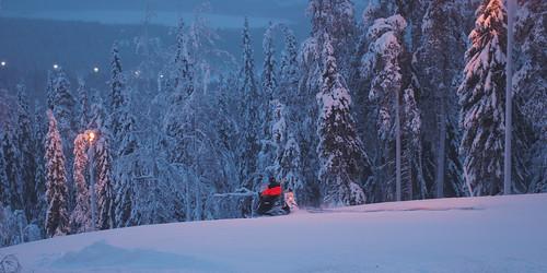 Snow mobile man