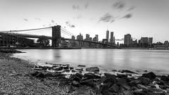 Puente de Brooklyn tras el atardecer - Manhattan - New York (DGrimaldi) Tags: nyc newyork byn blancoynegro brooklyn canon atardecer manhattan wb lee brooklynbridge lowermanhattan estadosunidos nuevayork grimaldi whiteandblack eeuu polarizador ef1740mmf4lusm mainstreetpark puentebrooklyn 5dmarkiii filtroslee dgrimaldi 5dmiii davidgrimaldi