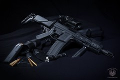 GHK G5 Rifle (saroston) Tags: life blue stilllife black still gun rifle rifles replica g5 weapon pistol airsoft firearm carbine ghk