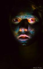 Carnival Face (DelphineRichert) Tags: clair obscur