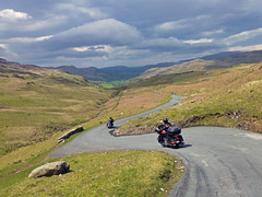Hardknott Pass, Lake District, UK (fatboyke (Luc)) Tags: park england lake ahead tour ride district extreme national cumbria harleydavidson motorcycle hairpin eskdale conditions wrynosepass bends ukdag4lakedistrict toughestbitsofroadanywhere oneofbritainsmostchallengingroads