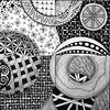 Today's #zentangleaday tile completed the lower right quadrant of the mosaic (8, 9, 11, & 12). #zentangle (kurki15) Tags: square squareformat zia zentangle zendoodle iphoneography instagramapp uploaded:by=instagram zentangleinspiredart
