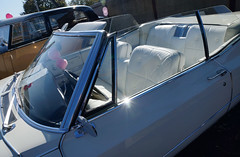 Cadillac DeVille Cabriolet ca. 1967 (eatmymoto) Tags: auto white classic car vintage design big swan 60s classiccar vintagecar ship voiture cadillac retro chrome 1967 hood oldtimer elegant deville dsseldorf luxery weiss cab