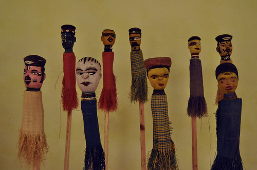 Masks at Africa House, Havana