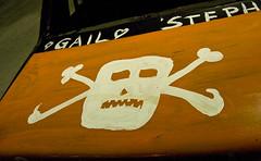 skull (keidong) Tags: orange white black car skull heart steph pirate gail demolitionderby skullandcrossbones schohariecounty sunshinefair
