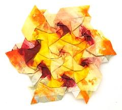 Fujimoto Tesselation Ajiro front (Pliages et vagabondages) Tags: origami tessellation décoration fujimoto