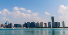 Abu Dhabi City Skyline (mytheoz) Tags: travel light sky tourism architecture landscape photography eos landscapes scenery dubai uae places adventure abudhabi unitedarabemirates urbanscene canon70d