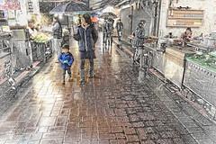 畫.夜雨 ~ 雨中烏來老街 Rainy day in Wulai . New Taipei City in Taiwan  台灣.新北市  DSC_0028