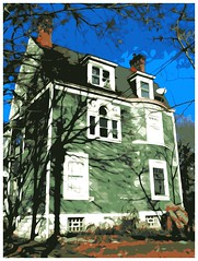 Green House (e r j k . a m e r j k a) Tags: house watercolor brooke westvirginia abode posterize wv2 follansbee us22 northernpanhandle oh7 upperohiovalley erjkprunczyk