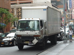 Mitsubishi FM (JLaw45) Tags: road street new york city nyc urban usa apple japan america truck asian island japanese town big asia state metro box manhattan united north east midtown commercial area delivery vehicle metropolis states van straight avenue northeast fm import fuso far mid metropolitan mitsubishi imported cabover