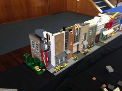 16 Lake St (coghilla) Tags: road city trip roof lego expo townhouse roadtrip modular custom curved residential bundaberg lug moc brickevents jan2015 qlug
