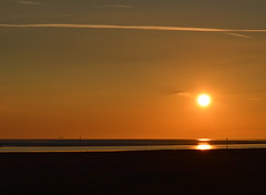 Another Lytham Sunset (Tony Worrall) Tags: county uk sunset sea england sun coast stream glow tour open place northwest country north scenic visit location lancashire lytham shore area serene sunlit northern update lythamstannes attraction settingsun lancs fylde welovethenorth ©2015tonyworrall