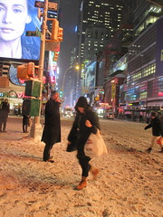 2015 Fake Blizzard Snow looking East on 42nd Street 5637 (Brechtbug) Tags: street nyc winter snow storm weather looking near snowstorm january fake east snowing avenue blizzard 8th 42nd blizzards 2015 01262015