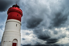 Guide (F_J Storage) Tags: red sea sky espaa lighthouse white storm rain clouds faro spain nubes cartagena