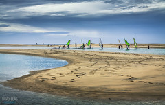 Beginners (davidblas) Tags: beach clouds canon island eos sand fuerteventura playa canarias surfing arena nubes learning canaryislands isla windsurf beginners 50d principiantes davidblas davidblasphotography
