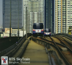 Thailand - Bangkok / Krung Thep - Transit System (railasia) Tags: point thailand bangkok postcard infra 2012 bts singletrack thirdrail overtake emu4 silomline routenº2 sapantaksin
