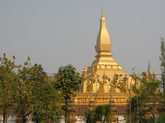 View of Golden Stupa in Vientiane