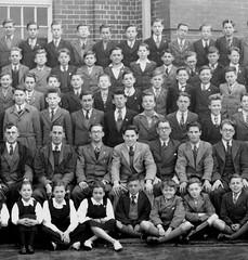Form Photo (theirhistory) Tags: uk girls boys socks shirt children shoes uniform dress group tie class teacher master jacket gb shorts form wellingtonboots wellies blazer