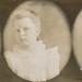 Triptych studio portrait of a well-dressed little girl