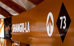 Shangri-La (DCZwick) Tags: ski sign golden bc britishcolumbia shangrila yurt 73 blackdiamond trailmarker kickinghorse khmr kickinghorsemountainresort pentaxart heavensdooryurt pentaxq7