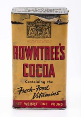 Rowntree's Cocoa - TWCMS:G11480 (Tyne & Wear Archives & Museums) Tags: york red england black industry animal yellow illustration 1936 wrapping paper advertising table tin design interesting legs display unitedkingdom mark label yorkshire tail letters lion royal wrap wear container domestic commercial monarch mysterious packaging production torn crown fold unusual ww1 horn product household unicorn firstworldwar royalty consumerism consumer homefront corroded fascinating digitalimage detailed mythical manufacturing industrialheritage productpackaging byappointment kinggeorgev onepound 191418 netweight dailylives neutralbackground colourphotograph worlife householdproduct rowntreescocoa rowntreecoltd dateofmanufacture firstworldwarproductpackaging thenourishingfoodthataidsdigestion latekinggeorgev freshfoodvitamins cocoaandchocolatemakers