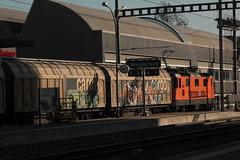 SBB Lokomotive Re 4/4 II 11320 Interregio Cargo ( Hersteller SLM Nr. 5183 - BBC - MFO - SAAS - Baujahr 1981 ) am Bahnhof Bern Bmpliz Nord bei Bern im Kanton Bern der Schweiz (chrchr_75) Tags: chriguhurnibluemailch christoph hurni schweiz suisse switzerland svizzera suissa swiss chrchr chrchr75 chrigu chriguhurni 1503 mrz 2015 albumbahnenderschweiz albumbahnenderschweiz201516 schweizer bahnen eisenbahn bahn train treno zug albumzzz201503mrz albumsbbre44iiiii lok lokomotive sbb cff ffs schweizerische bundesbahn bundesbahnen re44 re 44 juna zoug trainen tog tren   locomotora lokomotiv locomotief locomotiva locomotive railway rautatie chemin de fer ferrovia  spoorweg  centralstation ferroviaria