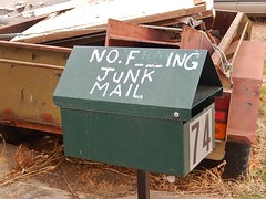 Strong Feelings About Junk Mail (mikecogh) Tags: mailbox strong letterbox trailer language junkmail offensive 74 albertpark feelings swearing abusive