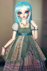 Deri's new outfit <3<3<3 (Einwegherz) Tags: girl doll slim dress bjd gown fairyland mori abjd msd mnf minifee rheia morigirl