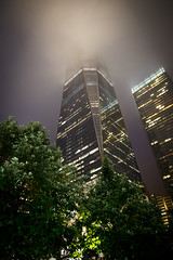 One World Trade Center (Digital Traveler) Tags: newyork building architecture night canon eos unitedstates overcast 6d freedomtower oneworldtradecenter