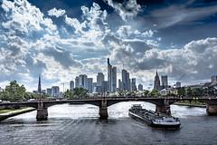 Mainhatten (tobiaswörner) Tags: sky skyline clouds boat frankfurt main wolken mainhatten hochhaus ffm nikond7200 sigma183518