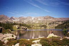 (Ferran  Tudela) Tags: nature girl fuji superia carlit lac vall de la tete france ferran tudela 200 canon a1 sure shot