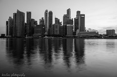 city of ..... (~kenlwc) Tags: city longexposure urban bw reflection water monochrome architecture mono blackwhite singapore gr ricoh ricohgr kenleung kenlwc