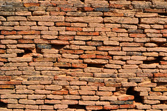 Bricks Build Wall Beyond Cliff (Ali Chatai | Photo.blog) Tags: pakistan dessert photography fort ali derawar chatai alichatai
