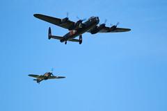 AVRO Lancaster PA474 and Hawker Hurricane PZ865 Battle Of Britain Memorial Flight RAF Coningsby (markalfa83) Tags: avro lancaster pa474 battle of britain memorial flight raf coningsby hawker hurricane pz865 canoneos7dmarkii sigma 150600 014 sport lens