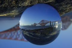Forth Rail Bridge Crystal Ball (Thomas Brannan) Tags: bridge ball scotland crystal rail forth