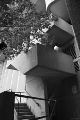 DSC03701 (sesquiotic) Tags: toronto monochrome architecture blackwhite brutalism ontariosciencecentre canonfd28mmf28