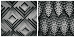 Tile Diptych (nate hughes) Tags: bw blackandwhite diptych fujifilmxt10 fujinonxf1855mmf284rlmois longwoodgardens monochrome pattern pennsylvania stilllife stonework texture