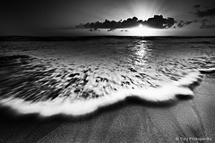 Rushing Wave (renatonovi1) Tags: wave swell beach sun sunrise rays couds sky bw blackandwhite sand landscape seascape monavale warriewood sydney nsw australia