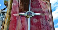 American La France Foamite (BKHagar *Kim*) Tags: red truck vintage emblem rust antique rusty firetruck rusted vehicle fireengine americanlafrance foamite limestonefleamarket bkhagar